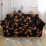Black Eagles Design Print Pattern Sofa Cover