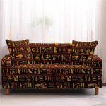 Ancient Egypt Symbols Complex Design Sofa Cover