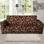 Orange And Black Cheetah Print Sofa Cover
