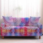 Rainbow Bohemian Mandala Vibrant Design Sofa Cover