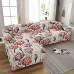 Abstract Flowers Pattern Beautiful Art Sofa Cover