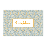 Custom Name Printed Placemat Table Mat Daisies Flowers And Leaves