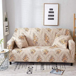 Flower Pattern Cornsilk Color Theme Sofa Cover
