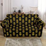 Multi Pineapple Gold Tribal Pattern Sofa Cover
