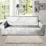 White Marble Watercolor Sofa Cover