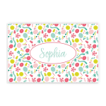 Colorful Sweet Candy Custom Name Printed Placemat Table Mat