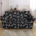 Skeleton Style And Black Skin Print Sofa Cover