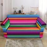 Mexican Blanket Colorful Pattern Sofa Cover