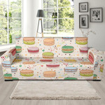 Sweet Macaron Pattern Theme Sofa Cover