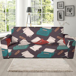 Red And Green Typewriter Pattern Sofa Cover