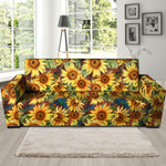 Collection Watercolor Sunflower Sofa Cover