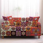 Mandala Elastic Frame Texture Lively Design Sofa Cover