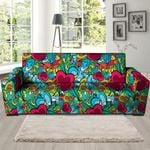 Floral Psychedelic Graffiti Pattern Print Sofa Cover