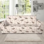 Dog Basset Hound Pattern Background Sofa Cover
