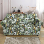 Koala In The Forest Bamboo Pattern Sofa Cover