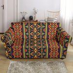 Kente Classic African Orange Pattern Sofa Cover