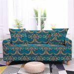 Appealing Design Bohemian Style Blue Theme Sofa Cover