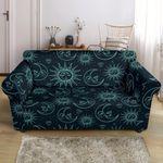 Sun Moon Magic Style Dark Theme Sofa Cover
