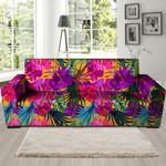 Tropical Hibiscus Flower Hawaiian Trendy Sofa Cover