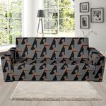 Doberman Dog Pattern Theme Sofa Cover