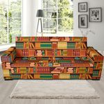 Book Lover Library Librarian Background Sofa Cover