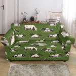 Cow On Grass Peaceful Pattern Sofa Cover
