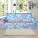 Cloud Hot Air Balloon Pattern Background Sofa Cover