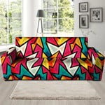Abstract Geometric Colorful Pattern Print Sofa Cover
