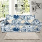 Hand Draw Ocean Octopus Pattern Theme Sofa Cover