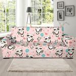 Pink Cute Raccoon Pattern Theme Sofa Cover