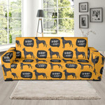 Great Dane And Dog Background Sofa Cover