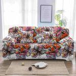 Butterfly Texture Unique Design White Theme Sofa Cover