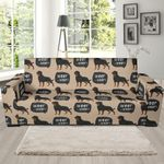 Rottweiler Dog Pattern Theme Sofa Cover