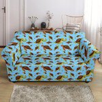 Hello Sea Turtle Ocean Tropical Summer Pattern Sofa Cover