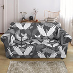 White And Grey Angel Wings Pattern Sofa Cover
