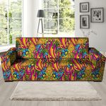 Trippy Hippie Flame Psychedelic Artistic Sofa Cover