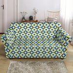 Colorful Swedish Illusion Design Pattern Sofa Cover