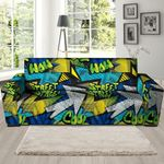 Colorful Abstract Graffiti Pattern Print Sofa Cover