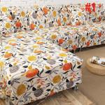 New Decorative Flower Pattern White Theme Sofa Cover