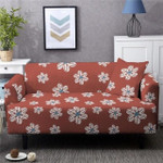 White Flower Pattern Spandex Luxury Sofa Cover
