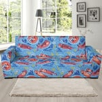 Pink Otter Pattern Theme Sofa Cover