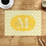 Custom Name Printed Placemat Table Mat Lemon Clover Pattern