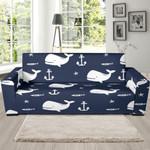 White Humpback Whale Theme Sofa Cover