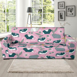 Pink Guinea Pig Background Sofa Cover