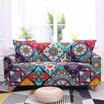 Boho Unique Flower Pattern Complex Design Sofa Cover