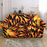 Red Hot Flame Fire Pattern Sofa Cover