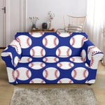 Baseball Blue Background Form Print Sofa Cover