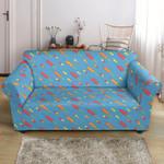 Blue Phlebotomist Medical Pattern Print Sofa Cover
