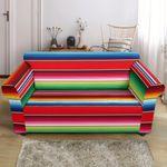 Colorful Serape Pattern Loveseat Print Sofa Cover