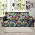 Valentine Heart Hippie Trippy Background Sofa Cover